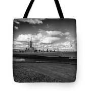 Uss Bowfin-black And White Tote Bag