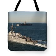 Uss James E. Williams Is Underway Tote Bag by Stocktrek Images