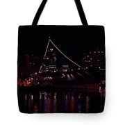 Uss Midway At Night Tote Bag