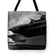 Uss Midway Helicopter Tote Bag