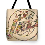 Utah Jazz Poster Art Tote Bag by Florian Rodarte