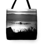 Utah Lake Dusk 03 - Bw Tote Bag