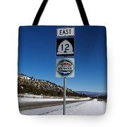 Utah Scenic Highway 12 In Snow Tote Bag