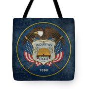 Utah State Flag Vintage Version Tote Bag