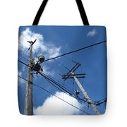 Utility Poles And Clouds 2 Tote Bag