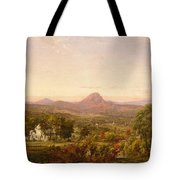 Autumn Landscape Sugar Loaf Mountain. Orange County  New York Tote Bag