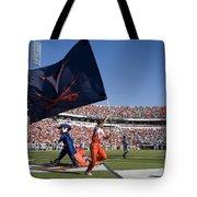 Uva Virginia Cavaliers Football Touchdown Celebration Tote Bag by Jason O Watson