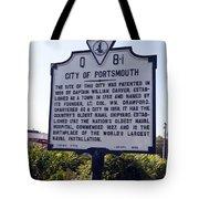 Va-q8i City Of Portsmouth Tote Bag