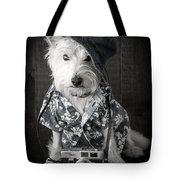 Vacation Dog With Camera And Hawaiian Shirt Tote Bag