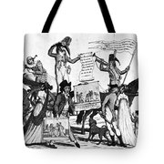 Vaccination Cartoon, C1800 Tote Bag