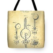 Vacuum Tube Patent From 1905 - Vintage Tote Bag