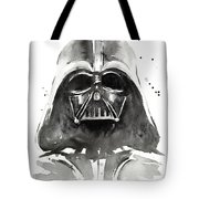 Darth Vader Watercolor Tote Bag