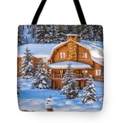 Vail Chalet Tote Bag