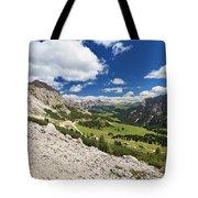 Val Badia From Gardena Pass Tote Bag