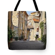 Valbonne - French Village Of Contradictions Tote Bag by Christine Till