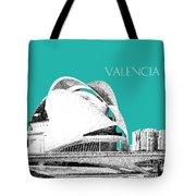 Valencia Skyline City Of Arts And Sciences - Aqua Tote Bag