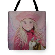 Valentina Little Angel Of Perseverance And Prosperity Tote Bag by The Art With A Heart By Charlotte Phillips