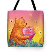 Valentine Baby Bear Tote Bag