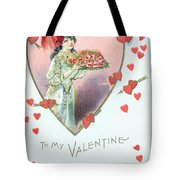 Valentine Card Tote Bag by English School