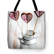 Valentine Cookie Pops Tote Bag