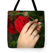 Valentine Rose Tote Bag