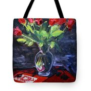 Valentine Roses Tote Bag