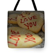 Valentine Wishes And Cookies Tote Bag