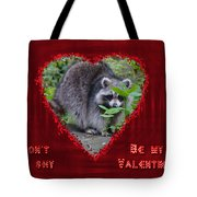 Valentine's Day Greeting Card - Raccoon Tote Bag