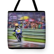 Valentino Rossi Fans Line The Fence Tote Bag