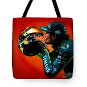 Valentino Rossi Portrait Tote Bag by Paul Meijering