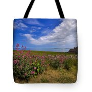Valerian By A Stone Wall On The Northumberland Coast Tote Bag