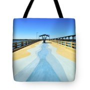 Valero Beach Fishing Pier Tote Bag