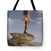Valkyrie On The Shore Tote Bag