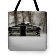 Valley Forge Cabin In Winter Tote Bag