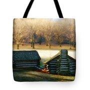 Valley Forge Cabins Tote Bag