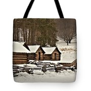 Valley Forge Cabins In Snow 2 Tote Bag