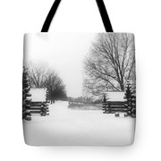 Valley Forge Cabins In Snow Tote Bag