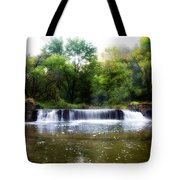Valley Forge Pa - Valley Creek Waterfall  Tote Bag