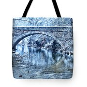 Valley Green Ducks In Winter Tote Bag