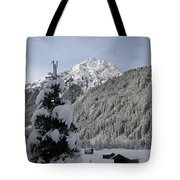 Valley In The Snow Tote Bag