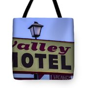 Valley Motel Tote Bag