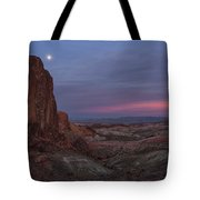 Valley Of Fire Moonrise Tote Bag