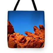 Valley Of Fire Nevada Desert Rock Lizards Tote Bag