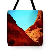 Valley Of Fire Nevada Desert Sand People Tote Bag