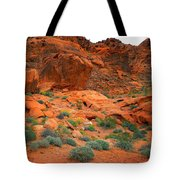Valley Of Fire Red Sandstone Cliffs Tote Bag