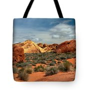Valley Of Fire Tote Bag by Robert Bales