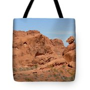 Valley Of Fire Rock Formations Tote Bag