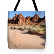 Valley Of Fire Wash Tote Bag by Gary Whitton