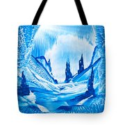 Valley Of The Castles Painting Tote Bag