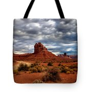 Valley Of The Gods Stormy Clouds Tote Bag